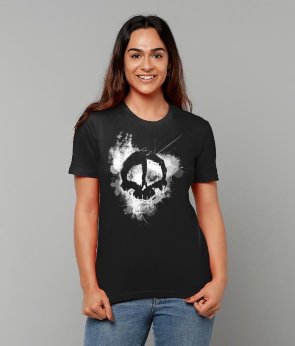 Misfits Inc Skull Splatter T-Shirt Organic Cotton Design