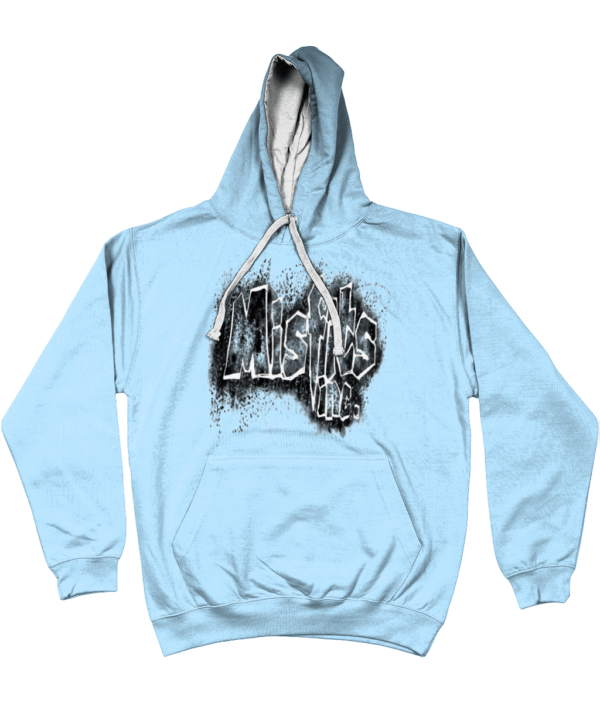 Misfits Inc Hoodie, Hooded Top, Hooded Sweater, Blue Hoodie, Hoodies, Stencil Design,