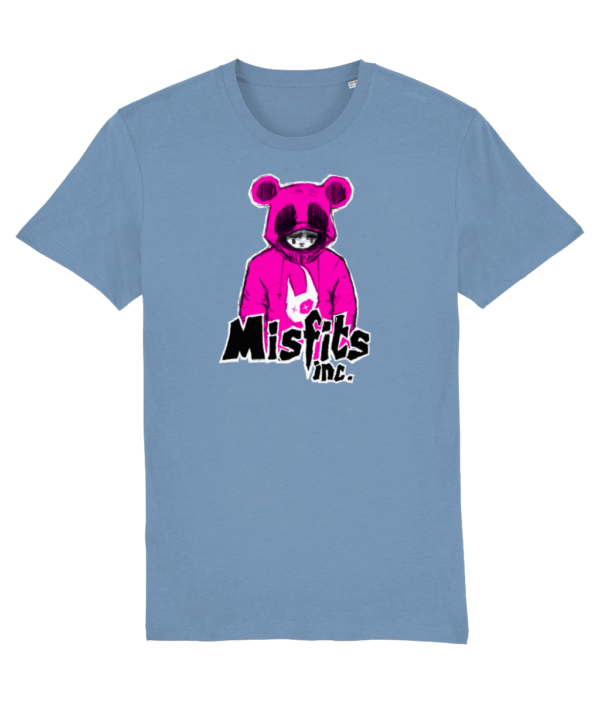 Blue Tshirt 'Sugar Pop' in Pink Panda T-Shirt – Organic Cotton – Misfits inc